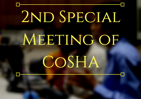 The 2ndSpecial Meeting of theCOSHA(2017-18), has been scheduled for8:30 PMonSaturday, November 4,2017in theSenate Hall, New SAC. List of Agendas for this meeting aregiven below. Agenda for the 2nd Special Meeting […]