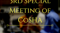 The 3rd  Special Meeting of the COSHA (2017-18), has been scheduled for 8:30 PM on Saturday, January 6, 2018 in the Senate Hall, New SAC.  List of Agendas for this meeting are given below. Agenda for the 3rd Special Meeting 2017-18 […]